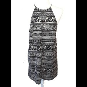 Forever 21 Black/Cream Elephant Dress L